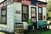 Rain Barrel Metal Prints - The Barber Shop from a different era Metal Print by Paul Ward