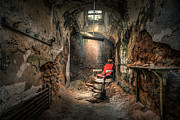 Gary Heller Metal Prints - The Barbers Chair -The Demon Barber Metal Print by Gary Heller