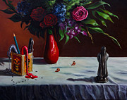 Ants Paintings - The Bard and The Bouquet by Sourav Bose