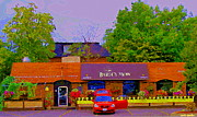 Streetscenes Paintings - The Barley Mow Pub Urban Eatery Old Ottawa The Glebe British Irish Restaurant Ottawa Scenes Cspandau by Carole Spandau