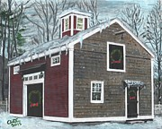 Wreaths Paintings - The Barn at Ocean House by Cliff Wilson