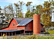 Carol Hamby Prints - The Barn Print by Carol Hamby