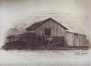 Old Barns Drawings Metal Prints - The Barn in Color Metal Print by John Jones