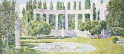 Sculptural Framed Prints - The Bartlett Gardens Framed Print by Childe Hassam