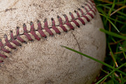 Baseball Closeup Photo Metal Prints - The Baseball Metal Print by David Patterson