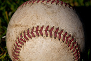 Baseball Seam Photo Metal Prints - The Baseball II Metal Print by David Patterson