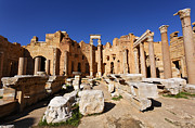 Leptis Magna Framed Prints - The Basilica of Severus at Leptis Magna in Libya Framed Print by Robert Preston