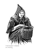 Basket Maker Framed Prints - The Basket Maker Framed Print by Art  MacKay