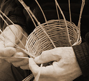 Hand Made Art - The Basket Weaver by Marcia Socolik