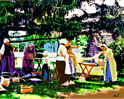 Manufacturing Painting Posters - The Basket Weavers Poster by CHAZ Daugherty
