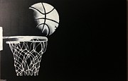 Basketball Paintings - The Basketball by Sanjay Thamake