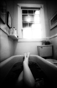 Black And White Photograph Prints - The Bath Print by Lindsay Garrett