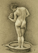 Real Drawings - The Bather by Alison Schmidt Carson