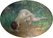 Charles River Digital Art Prints - The Bather Print by Charles Lenoir