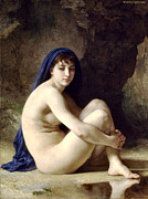 Old Masters Framed Prints - The Bather Framed Print by William Bouguereau