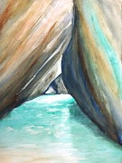 Carlin Paintings - The Baths Turquoise by Carlin Blahnik