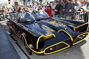 Crime Fighter Metal Prints - The Batmobile Metal Print by Nina Prommer