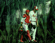 Baseball Digital Art Originals - The Battery by John Freidenberg
