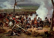 Forces Paintings - The Battle of Hanau by Emile Jean Horace Vernet