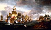 Famous Artists - The Battle of Lowestoft by Adriaen van Diest
