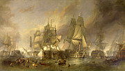 Famous Artists - The Battle of Trafalgar by Clarkson Frederick Stanfield
