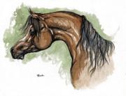 The Bay Arabian Horse 12 Print by Angel  Tarantella