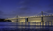 Bridge Framed Prints - The Bay Bridge Framed Print by Scott Norris