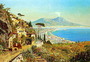 Volcano Digital Art - The Bay Of Naples by Alois Arnegger