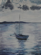 Maine Shore Painting Originals - The Bay by Sally Rice