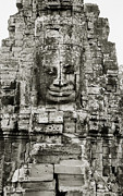 Statue Portrait Art - The Bayon Angkor by Shaun Higson