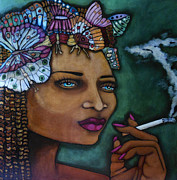 Cigarette Mixed Media Posters - The Bayou Queen Poster by Sherry Dooley