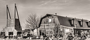 Wooden Barns Prints - The BBQ Barn Print by JC Findley