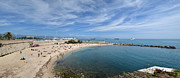 Allen Sheffield Prints - The Beach at Cap d Antibes Print by Allen Sheffield