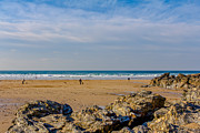 North Coast Posters - The Beach at Porthtowan Cornwall Poster by Brian Roscorla