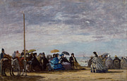 Boudin - The beach by Eugene Boudin
