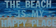 Word Art Art - The Beach in my happy place TWO by Patti Schermerhorn
