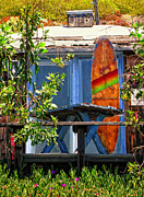 Screen Door Prints - The Beach Shack Print by Ron Regalado