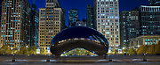 Millennium Park Prints - The Bean At Millennium Park Chicago Print by Steve Gadomski