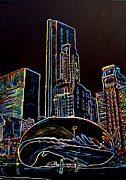 Chicago Landmark Paintings - The Bean-Chicago by Bryan Dubreuiel