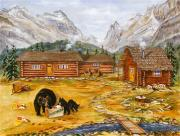 Canmore Artist Posters - The Bear Poster by Virginia Ann Hemingson