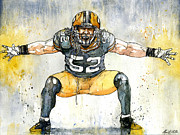 Green Bay Packers Mixed Media - The Beast by Michael  Pattison