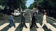 Beatles Photo Metal Prints - The Beatles Abbey Road Poster Metal Print by Sanely Great