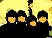 Fab Four Prints - The Beatles Abstract Print by Colin Dukelow
