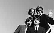 Beatles Photo Metal Prints - The Beatles Arrive in USA Metal Print by Sanely Great