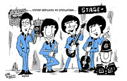 Beatles Mixed Media - The Beatles backstage antics by Paul Wilde