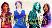 The Beatles Print by Barbara Chichester