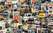 The Beatles Mixed Media Acrylic Prints - The Beatles Collage Acrylic Print by Taylan Soyturk