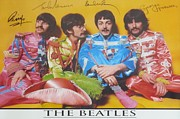 Lonely Hearts Club Band Prints - The Beatles Print by Donna Wilson