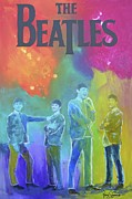 British Music Art Paintings - The Beatles by Gino Savarino