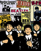 Beatles Digital Art - The Beatles by Glenn Cotler